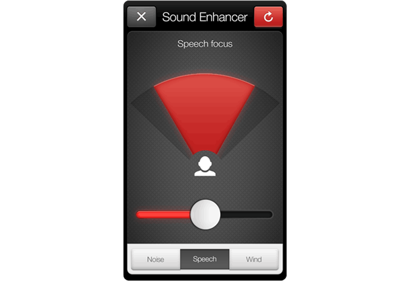 ReSound Smart app screen: speech focus.