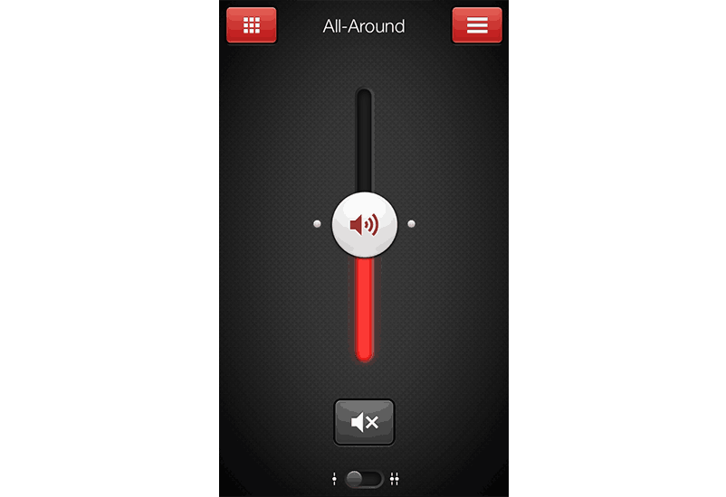 ReSound Smart app screen: change volume.