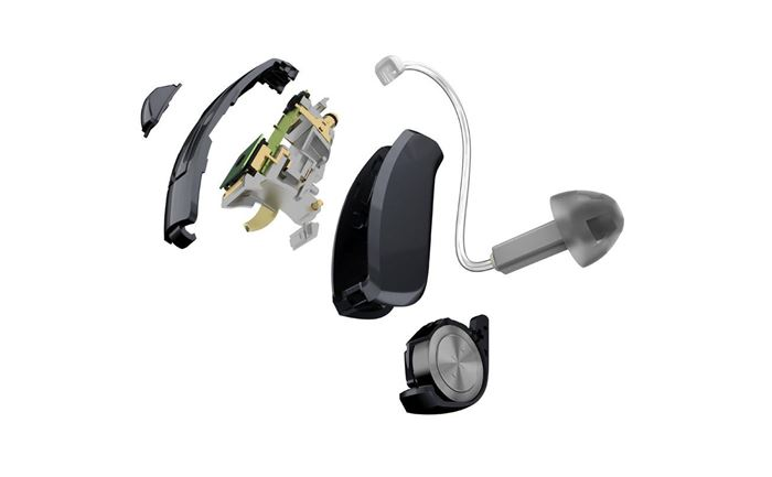 ReSound LiNX 3D hearing aid with protective coating.