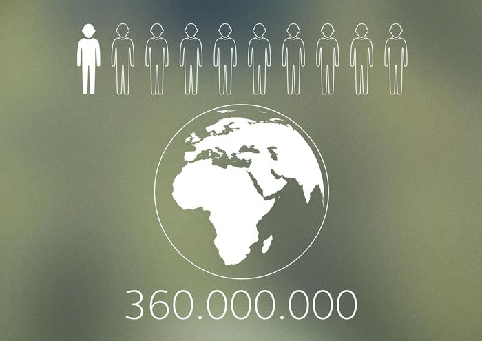 360 million people around the world have hearing loss.