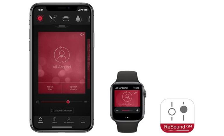 Aplicación ReSound Smart en dispositivos compatibles iPhone y iWatch