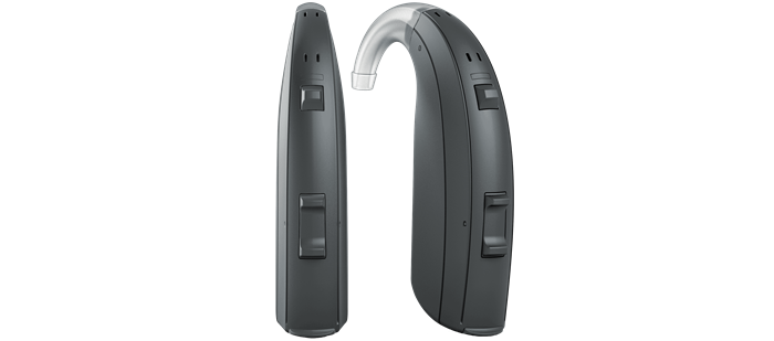Pair of ReSound ENZO 3D hearing aids.