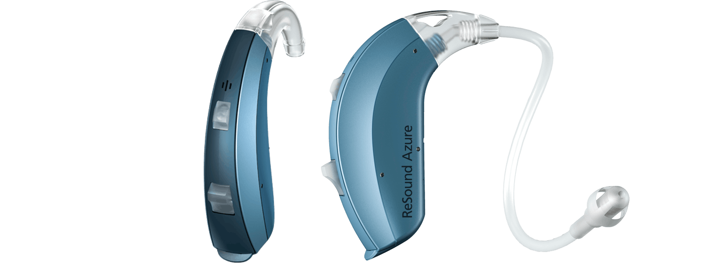 Pair of Azure LiNX hearing aids.