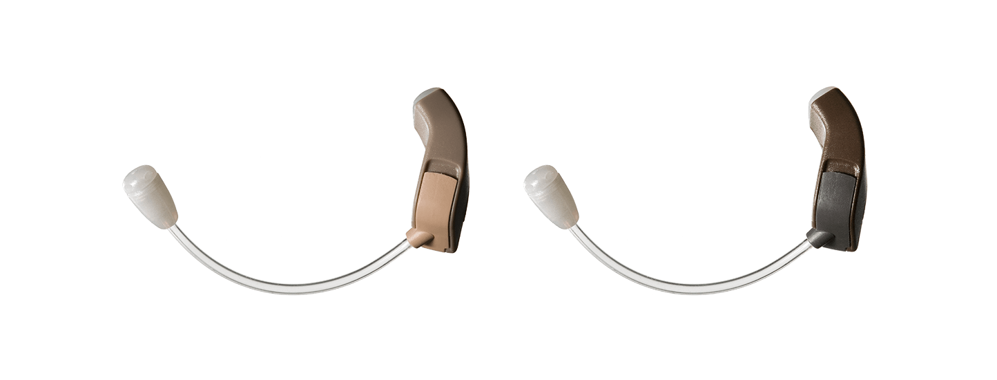 Pair of Be by ReSound hearing aids.