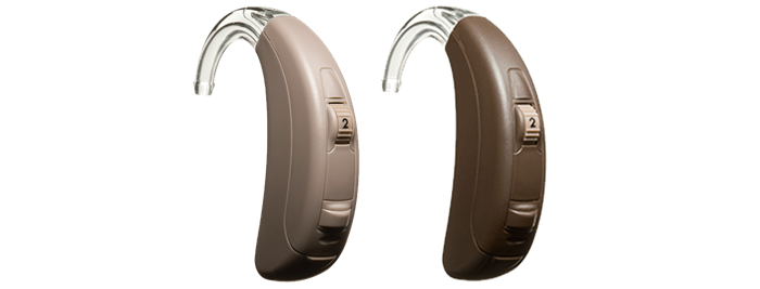 Pair of ReSound Essence hearing aids.
