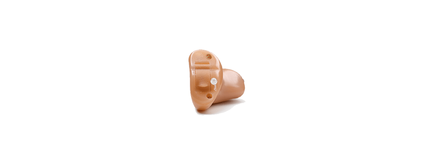 A ReSound Match Completely-in-Canal hearing aid.