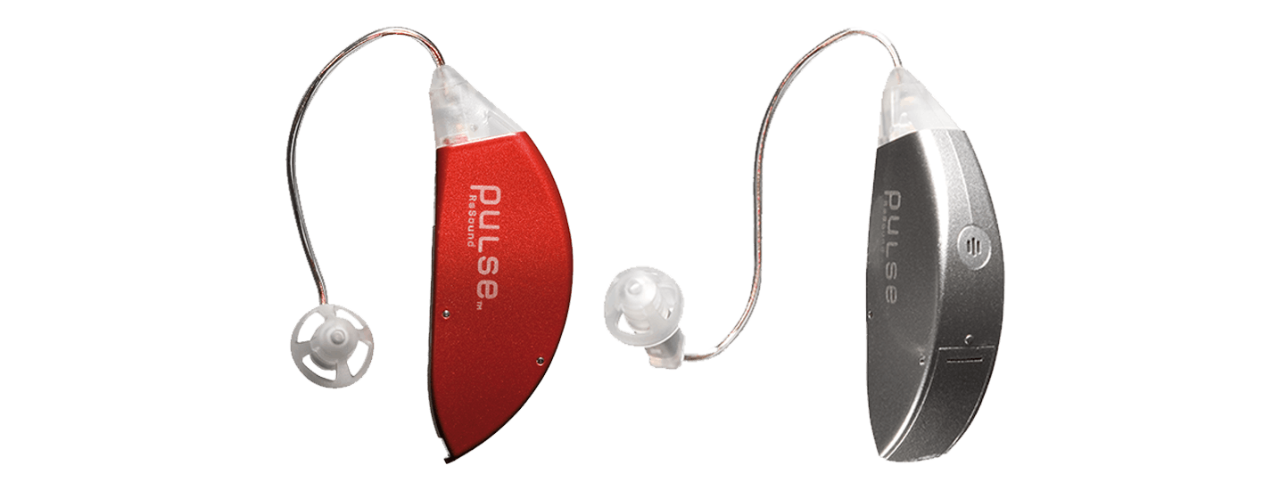 Pair of ReSound Pulse hearing aids.