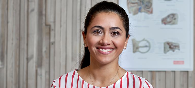 ReSound employee in a call center.