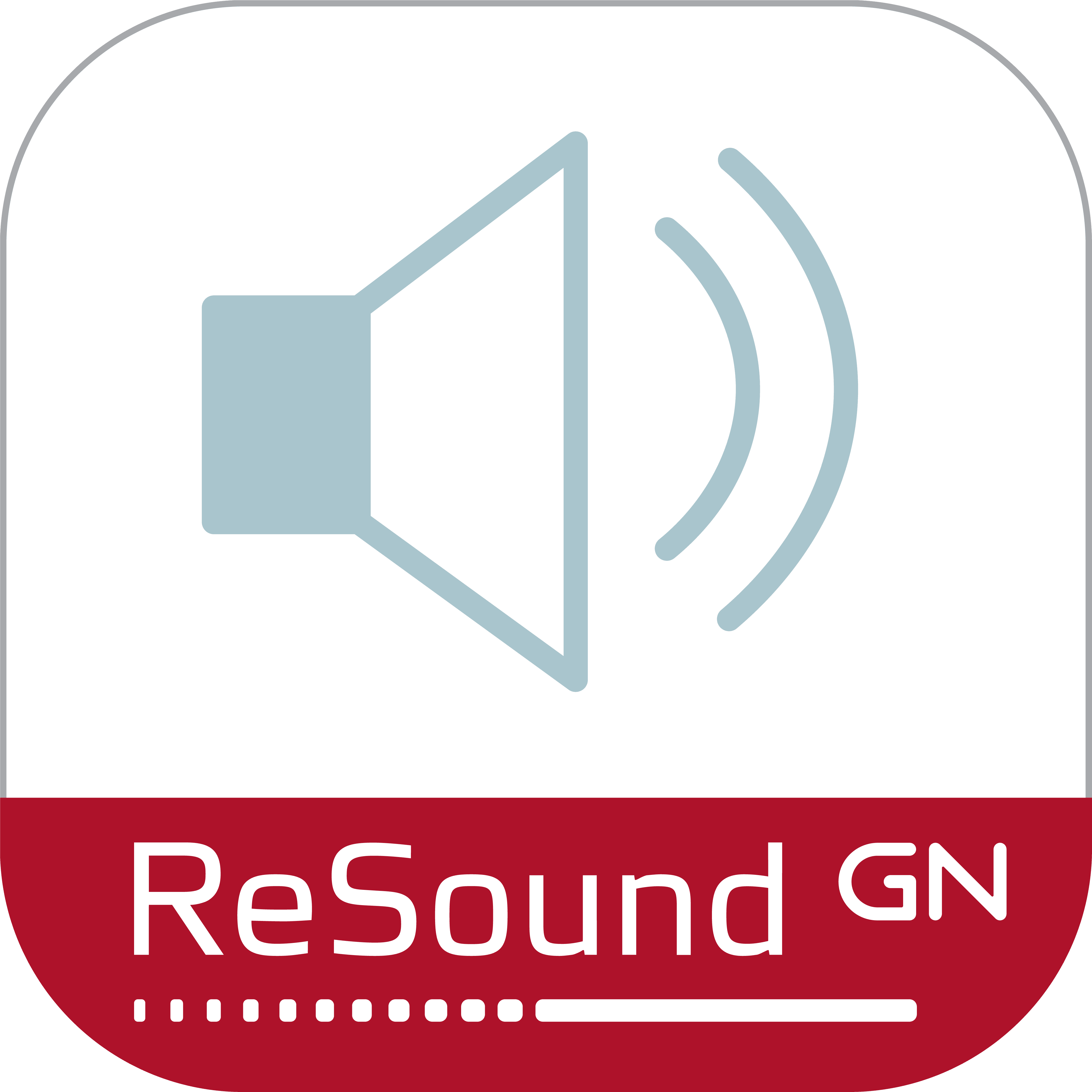 Ícone ReSound Remote app.