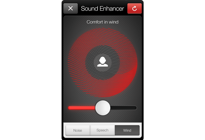 ReSound Smart app: comfort in wind.