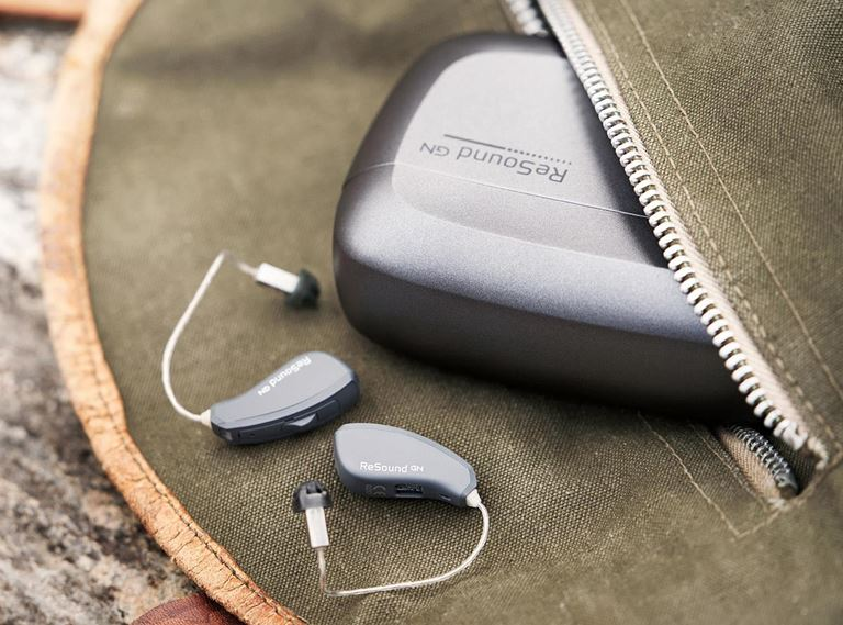 ReSound hearing aids with rechargeable batteries