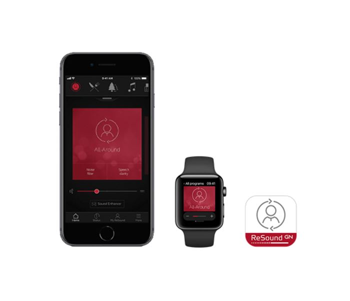 ReSound Smart 3D app phone watch logo on white background